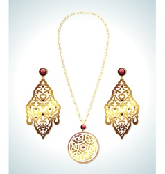 Jewelry collection vector image