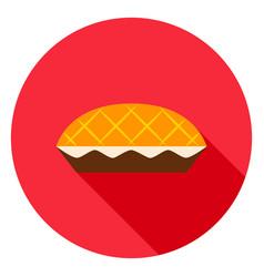 apple pie circle icon vector image vector image