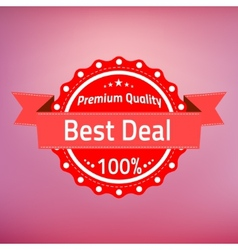 Best deal premium quality badge vector image