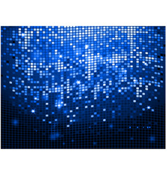 Blue sparkling disco wall background vector image