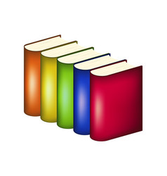 Books in multicolored covers vector