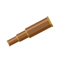 Brass metal sailor pirate foldable telescope vector