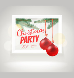 Christmas greeting card layout party announcement vector