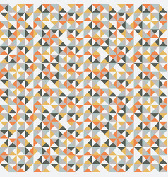 Colorful retro hipsters triangle seamless pattern vector