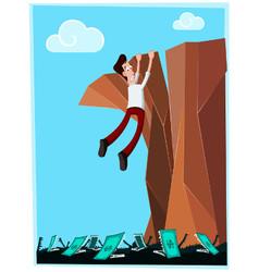 dangerous cliff vector image vector image