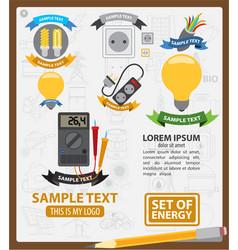 Energy logos energy infographics energetics vector