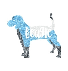 Form of round particles beagle dog isolated vector image