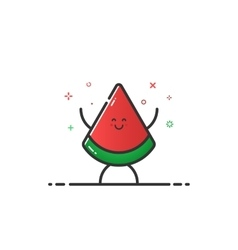 funny watermelon character vector image
