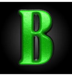 Green plastic figure b vector