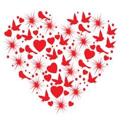 heart bird vector image vector image