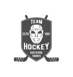 hockey logo badge design elements vector image vector image