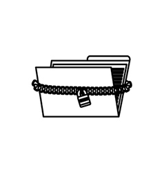 Isolated folder symbol vector