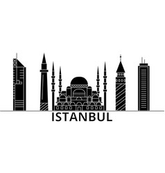 istanbul architecture city skyline travel vector image