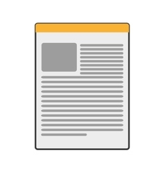 paper document icon vector image vector image