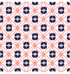 Rhombs decorated shapes seamless pattern vector
