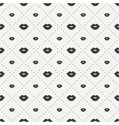 Romantic hipster lips kiss seamless pattern vector image vector image