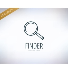 Search logo elements find information vector