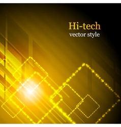 Shiny hi-tech background vector image