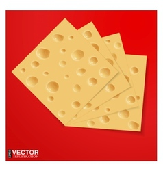 Slices of cheese vector