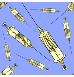 Syringe Seamless vector image