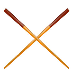 Traditional colored asian chopsticks vector