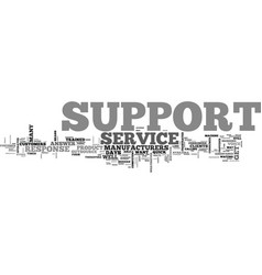 What is support text word cloud concept vector