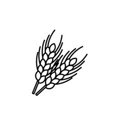 Wheat ear line icon outline sign linear style vector