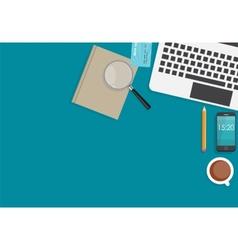 Working place modern office interior flat design vector