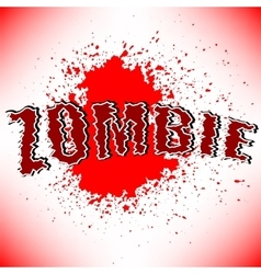 Zombie Title vector image vector image