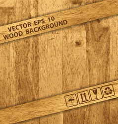 wooden box texture vector image
