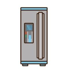 cartoon refrigerator appliance kitchen domestic vector image
