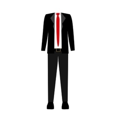 Color silhouette with male clothing thin elegant vector
