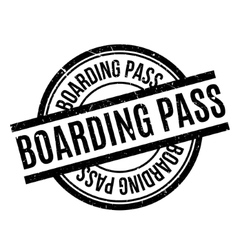 Boarding pass rubber stamp vector