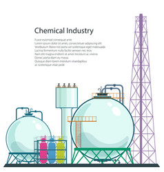 Refinery processing of natural resources isolated vector