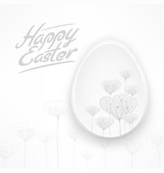 white easter floral egg vector image