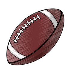Drawing amerian football ball equipment vector