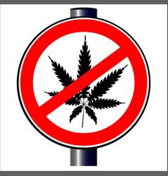 no weed vector image