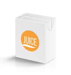 juice package realistic mock up template vector image