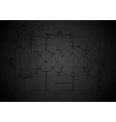 Dark abstract engineering drawing vector