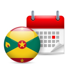 Icon of national day in grenada vector