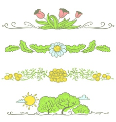 Floral spring vector