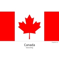National flag of canada with correct proportions vector