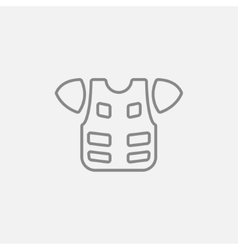 Motorcycle suit line icon vector