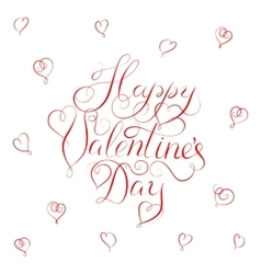 Happy valentines day - calligraphy vector