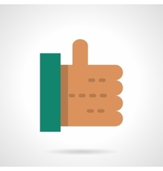 Thumb up flat color design icon vector