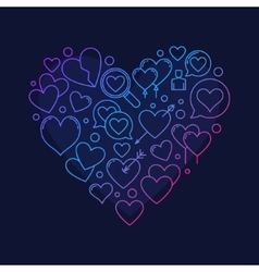 Heart shape symbol vector
