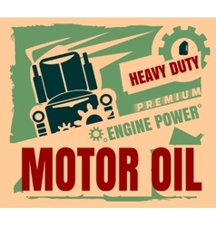 Vintage Label Design Template Motor oil vector image