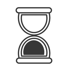 Hourglass or sand clock line icon vector