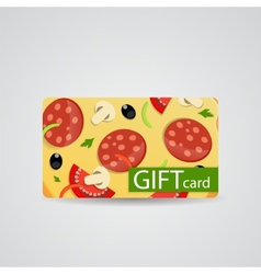 Abstract Beautiful Pizza Gift Card Design vector image vector image