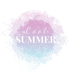 Abstract watercolor summer grunge background vector